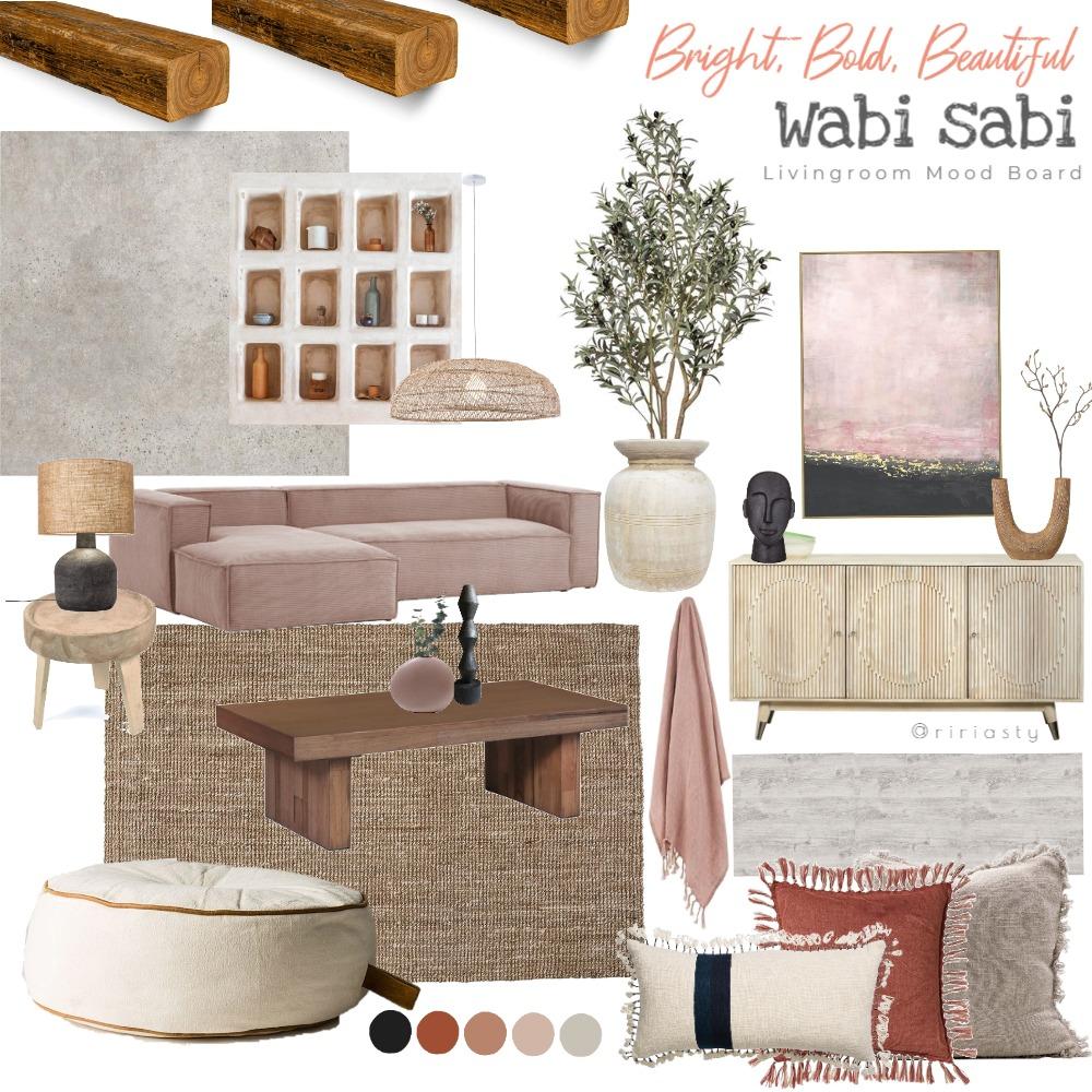 BBB Wabi Sabi Living Room Interior Design Mood Board by Riasty on Style Sourcebook