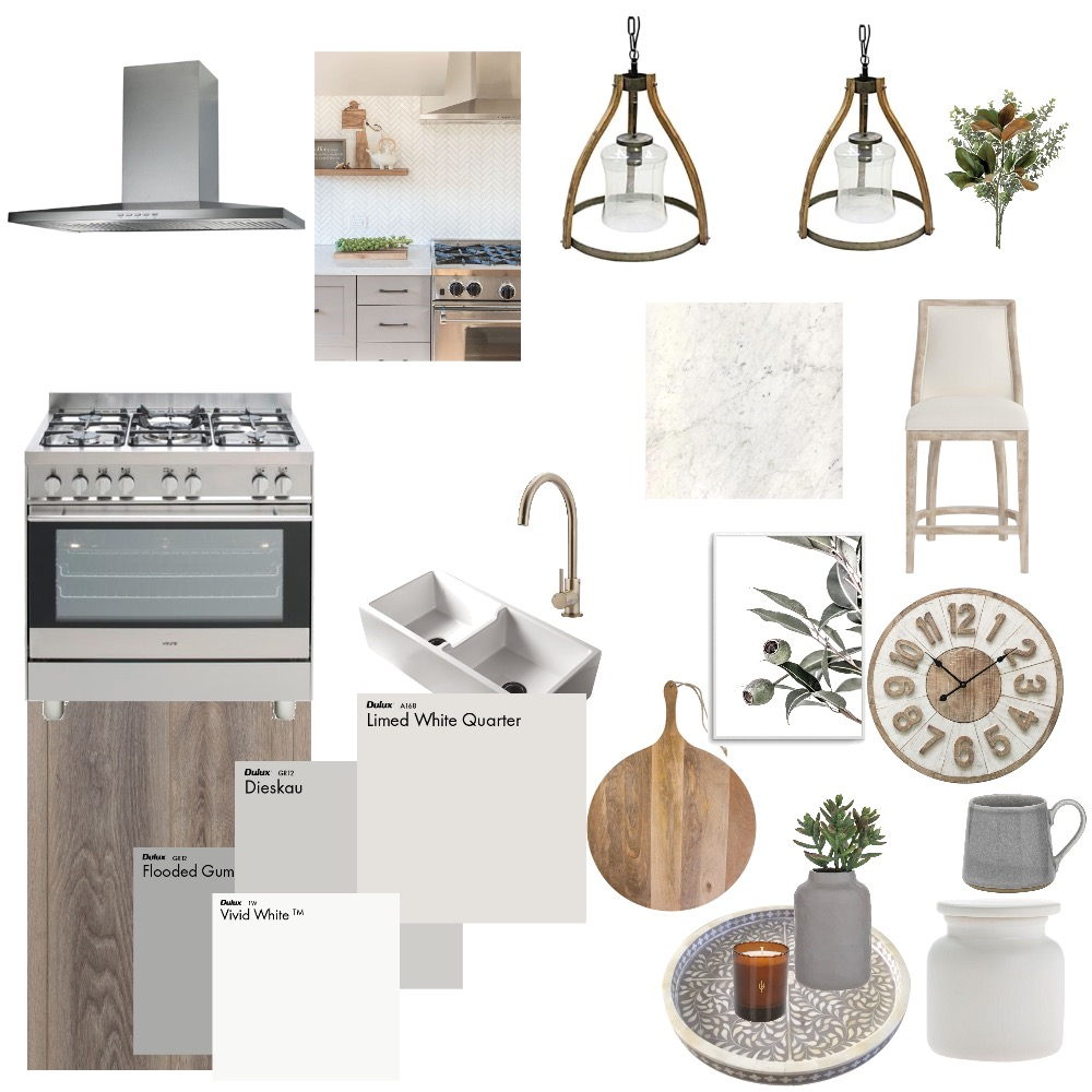 Modern Farmhouse kitchen Interior Design Mood Board by Stacey Newman Designs on Style Sourcebook