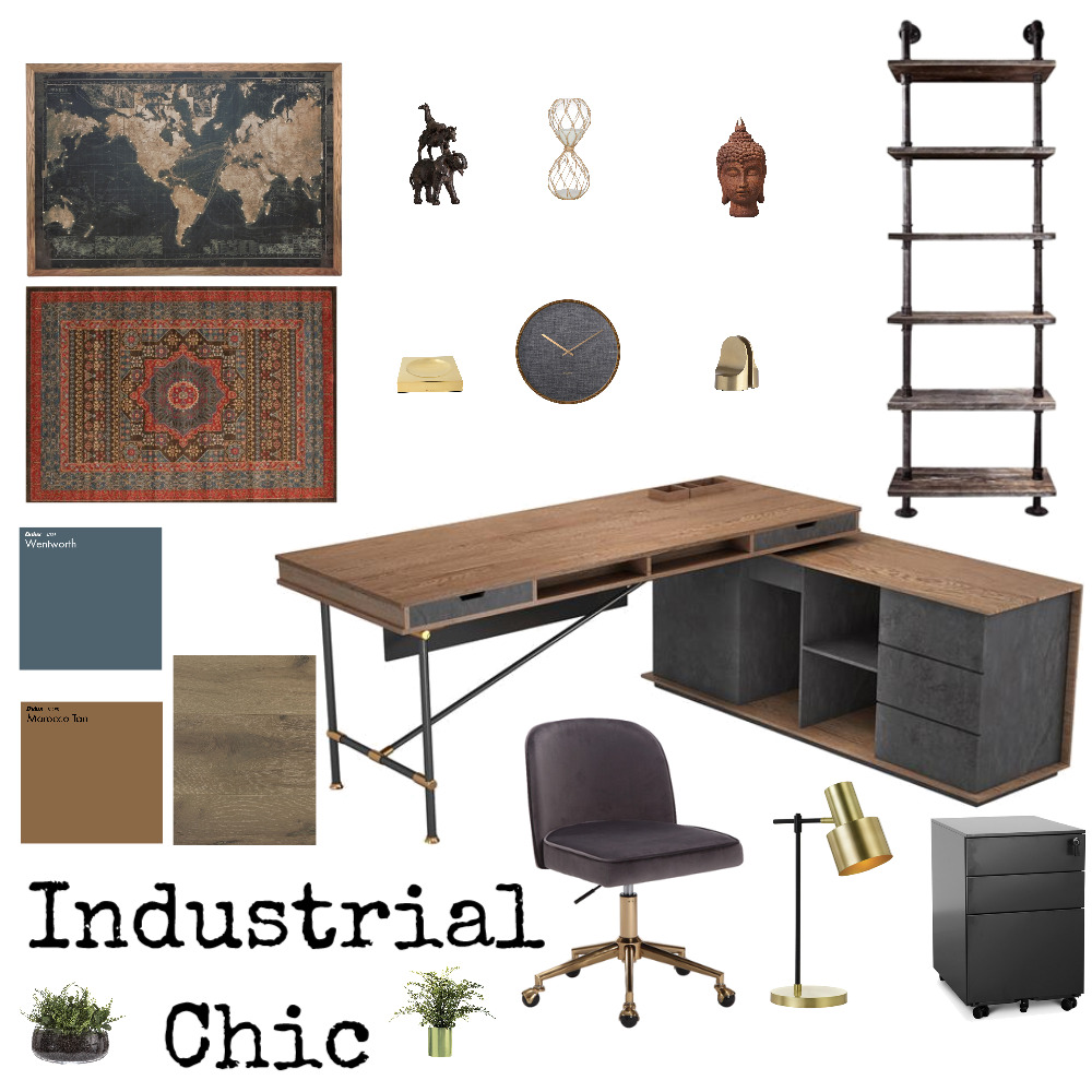 Industrial Chic Interior Design Mood Board by DianeCampbell on Style Sourcebook