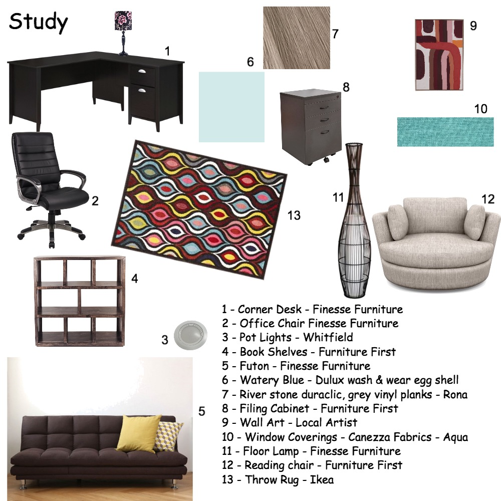 Study Interior Design Mood Board by twiliteframes@outlook.com on Style Sourcebook