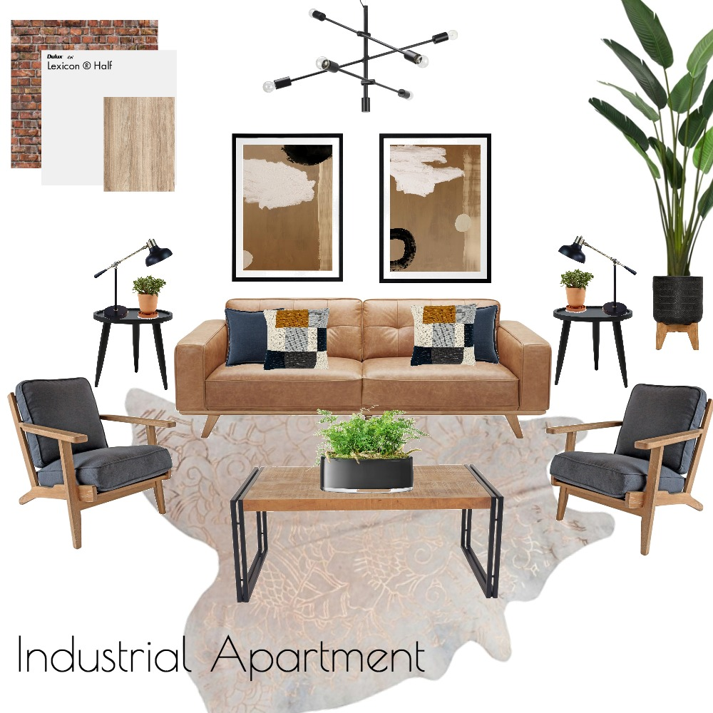 Industrial Apartment Interior Design Mood Board by Madeline Campbell on Style Sourcebook