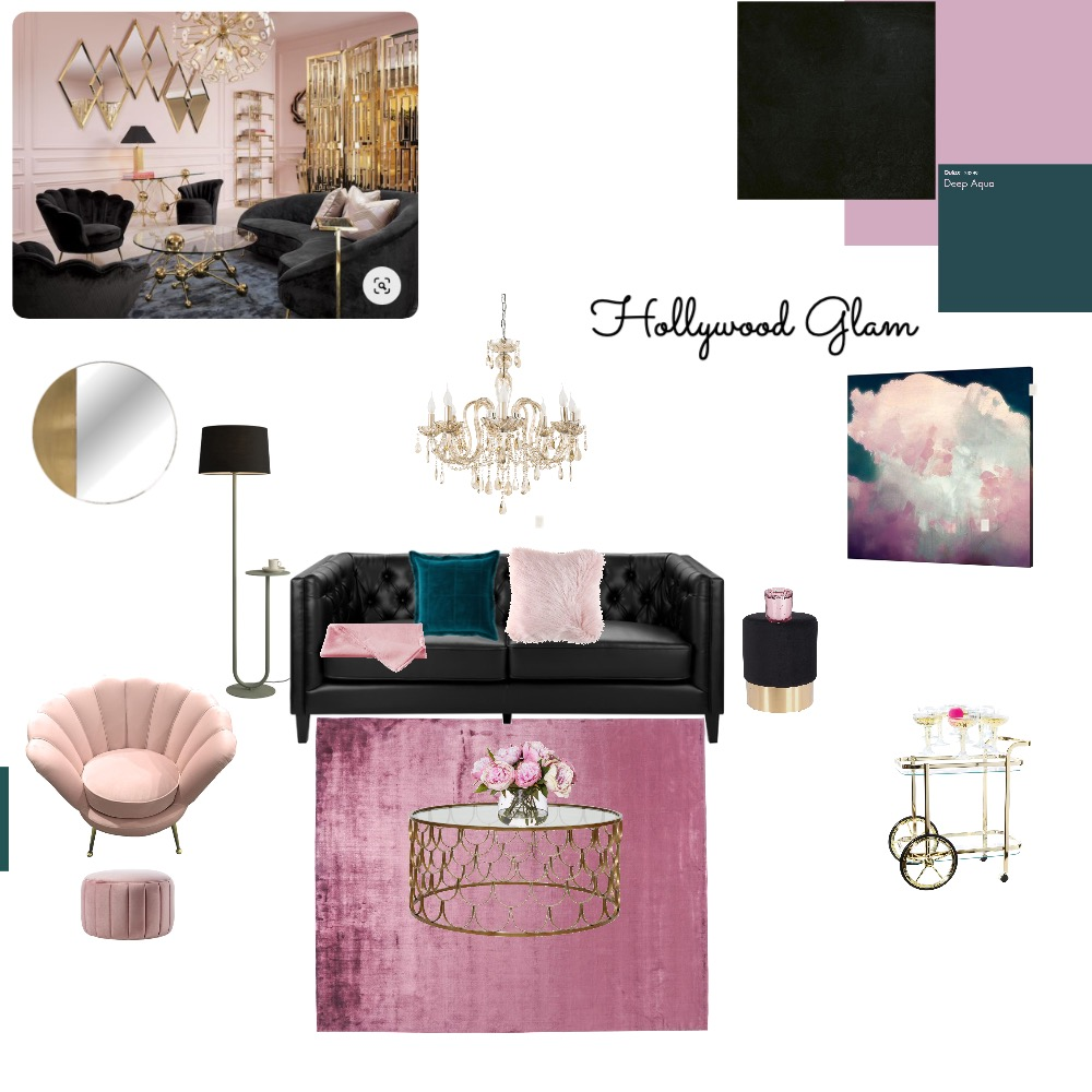 hollywood glam Interior Design Mood Board by anna polny on Style Sourcebook