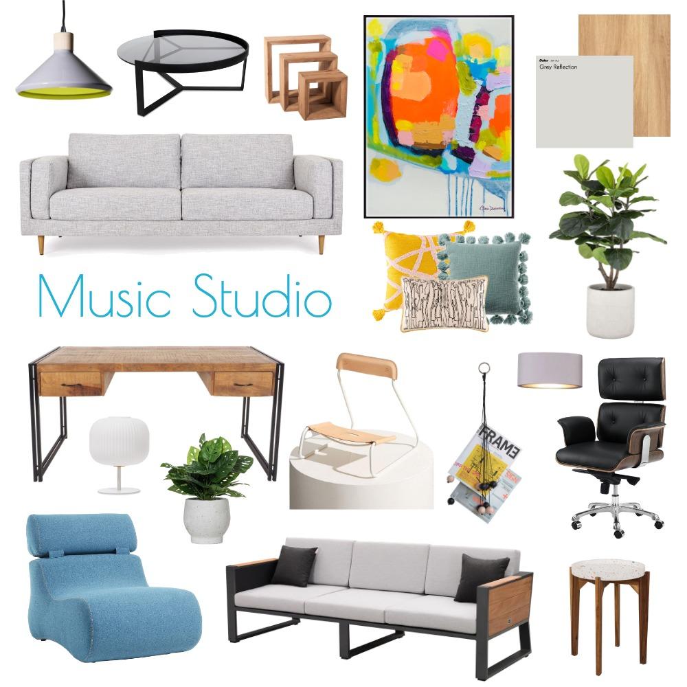 Music Studio Final Draft Interior Design Mood Board by Beth26 on Style Sourcebook
