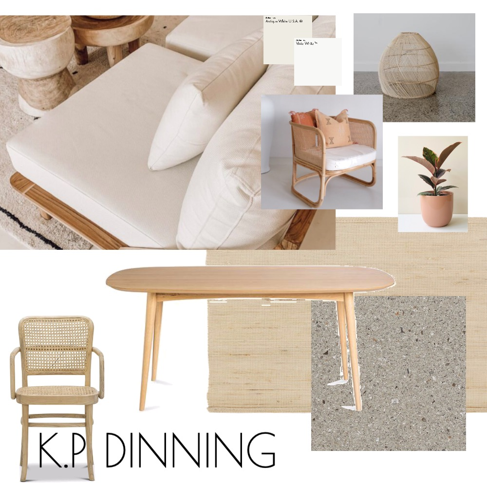 K.P DINNING Interior Design Mood Board by Dimension Building on Style Sourcebook
