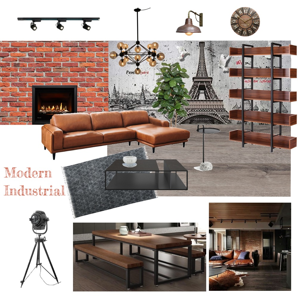 Modern Industrial Interior Design Mood Board by juenchye95 on Style Sourcebook