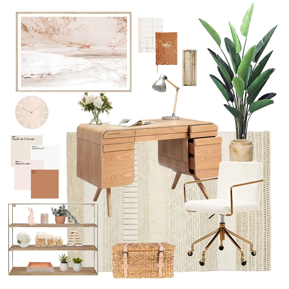 Earthy study nook Interior Design Mood Board by Happy Nook Interiors on Style Sourcebook