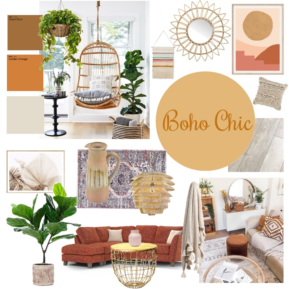 Boho Chic Interior Design Mood Board by Imagine Interiors on Style Sourcebook