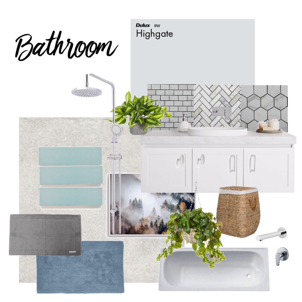 Bathroom Interior Design Mood Board by emmelynkyl on Style Sourcebook