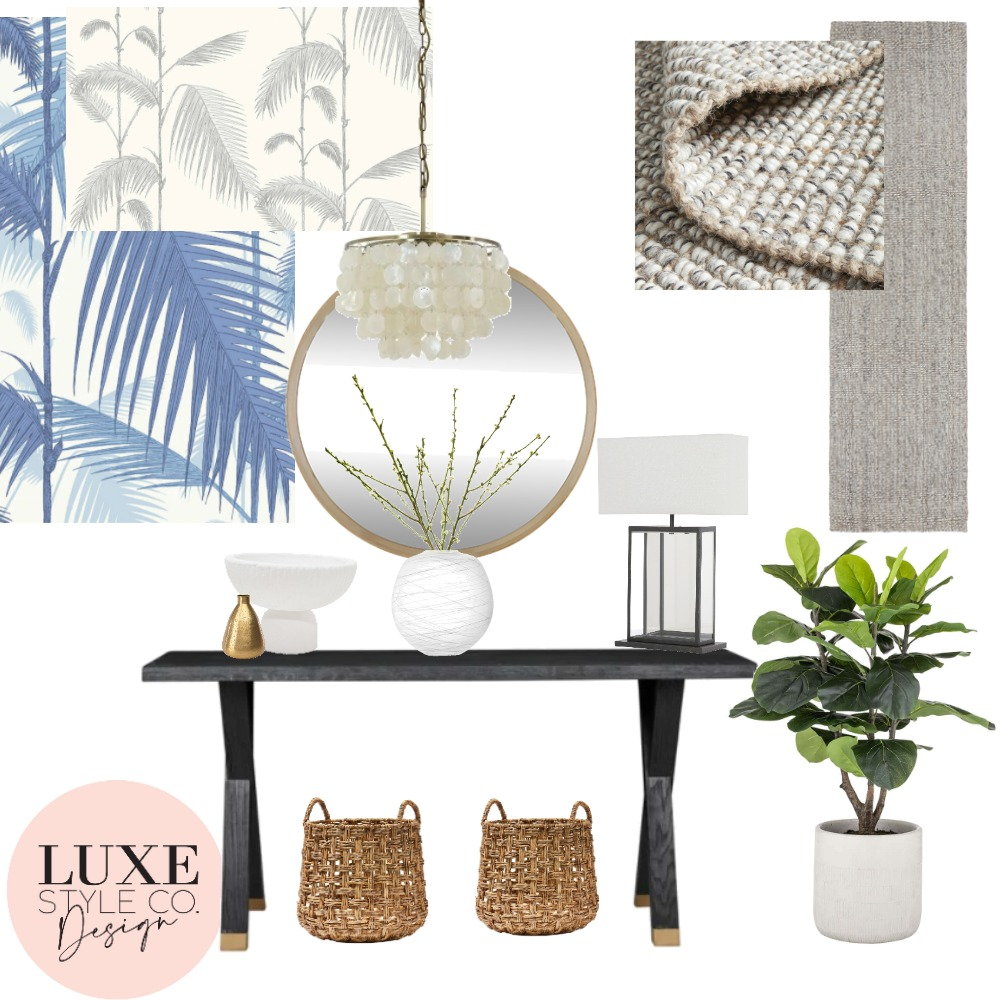 Entrance Hall and Corridor Interior Design Mood Board by Luxe Style Co. on Style Sourcebook