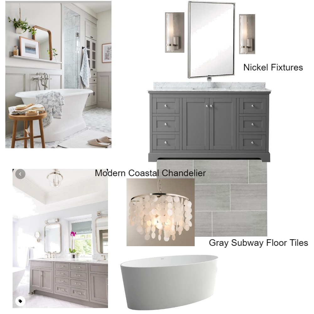 Rose Bathroom Option III Interior Design Mood Board by Nest In-Style on Style Sourcebook