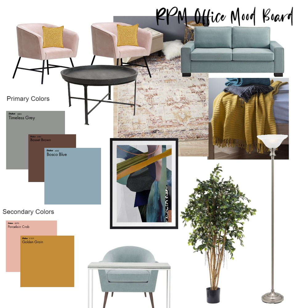 RPM Office Decor Interior Design Mood Board by Joiful Creations on Style Sourcebook