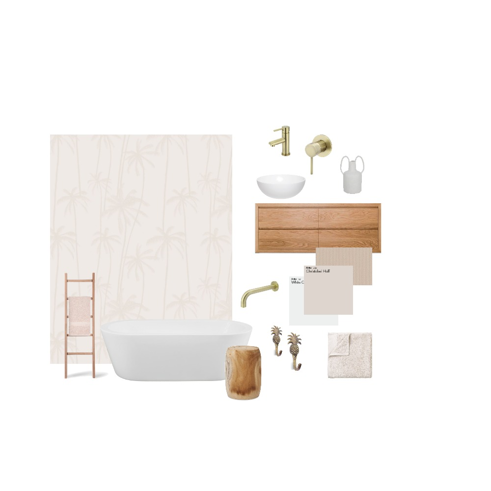 Bathroom blush Interior Design Mood Board by halipino on Style Sourcebook