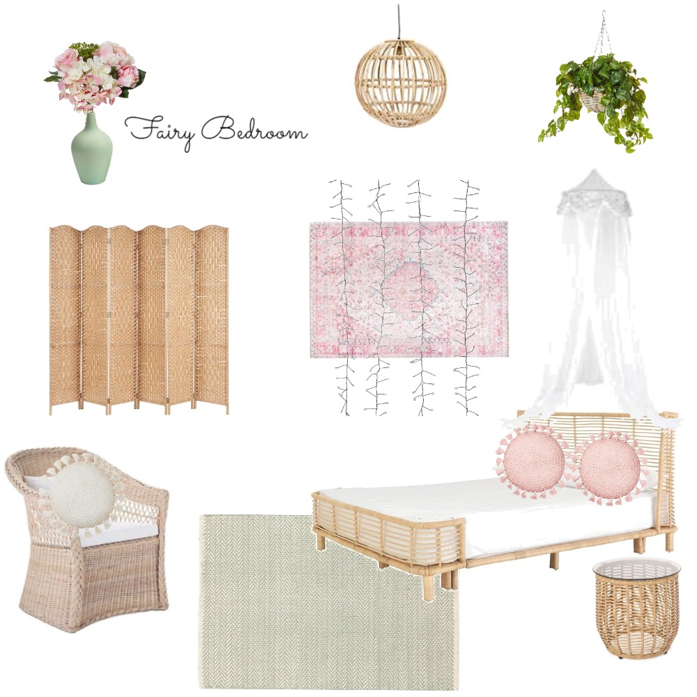 Fairy Bedroom Interior Design Mood Board by Black Cat Home Staging on Style Sourcebook