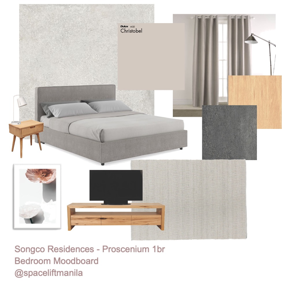 bedroom proscenium Interior Design Mood Board by Margo Midwinter on Style Sourcebook