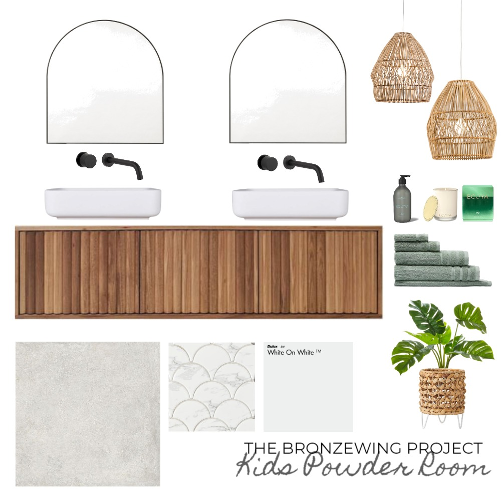 The Bronzewing Project - Kids Powder Room Interior Design Mood Board by makindesign on Style Sourcebook
