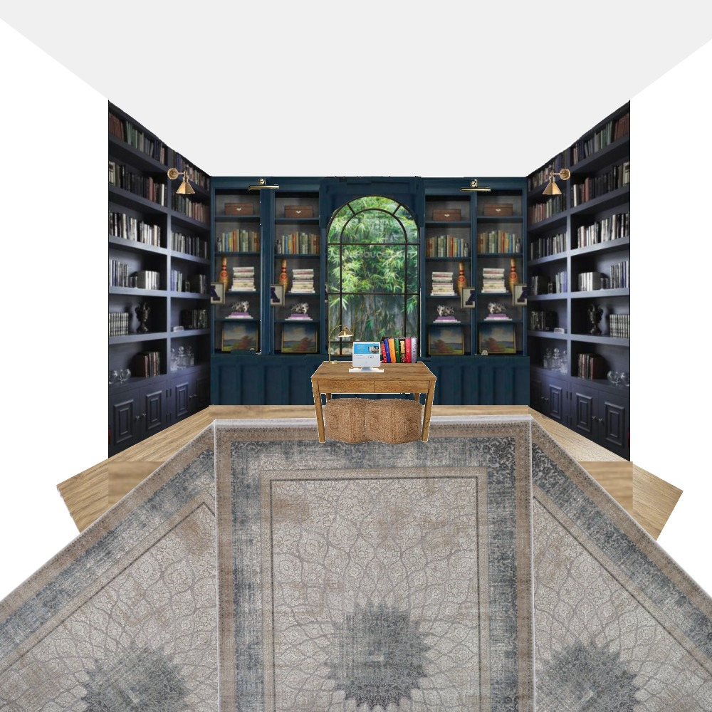final Library Interior Design Mood Board by Colette on Style Sourcebook