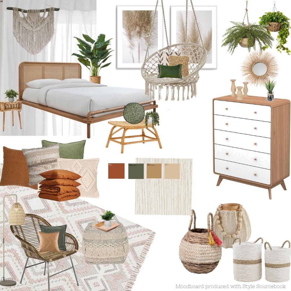 Botanical Bohemian Style Interior Design Mood Board by Merrya Johnson Design on Style Sourcebook