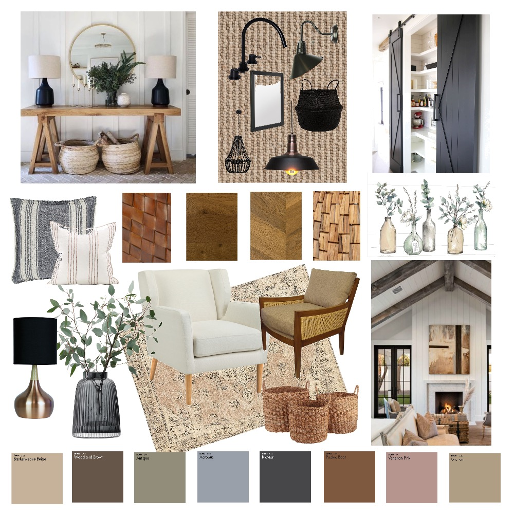 Modern Farmhouse Interior Design Mood Board by viranchi on Style Sourcebook
