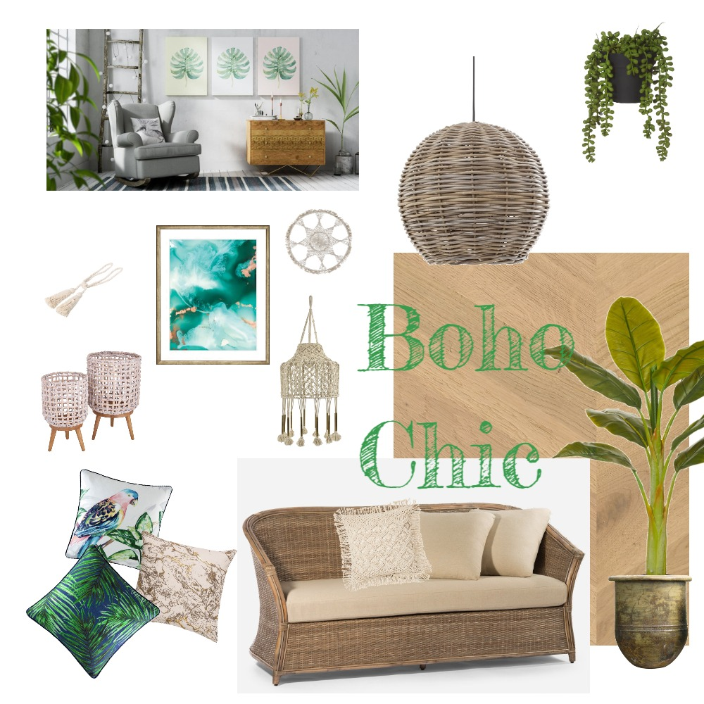 BohoChic Interior Design Mood Board by Lily2021 on Style Sourcebook
