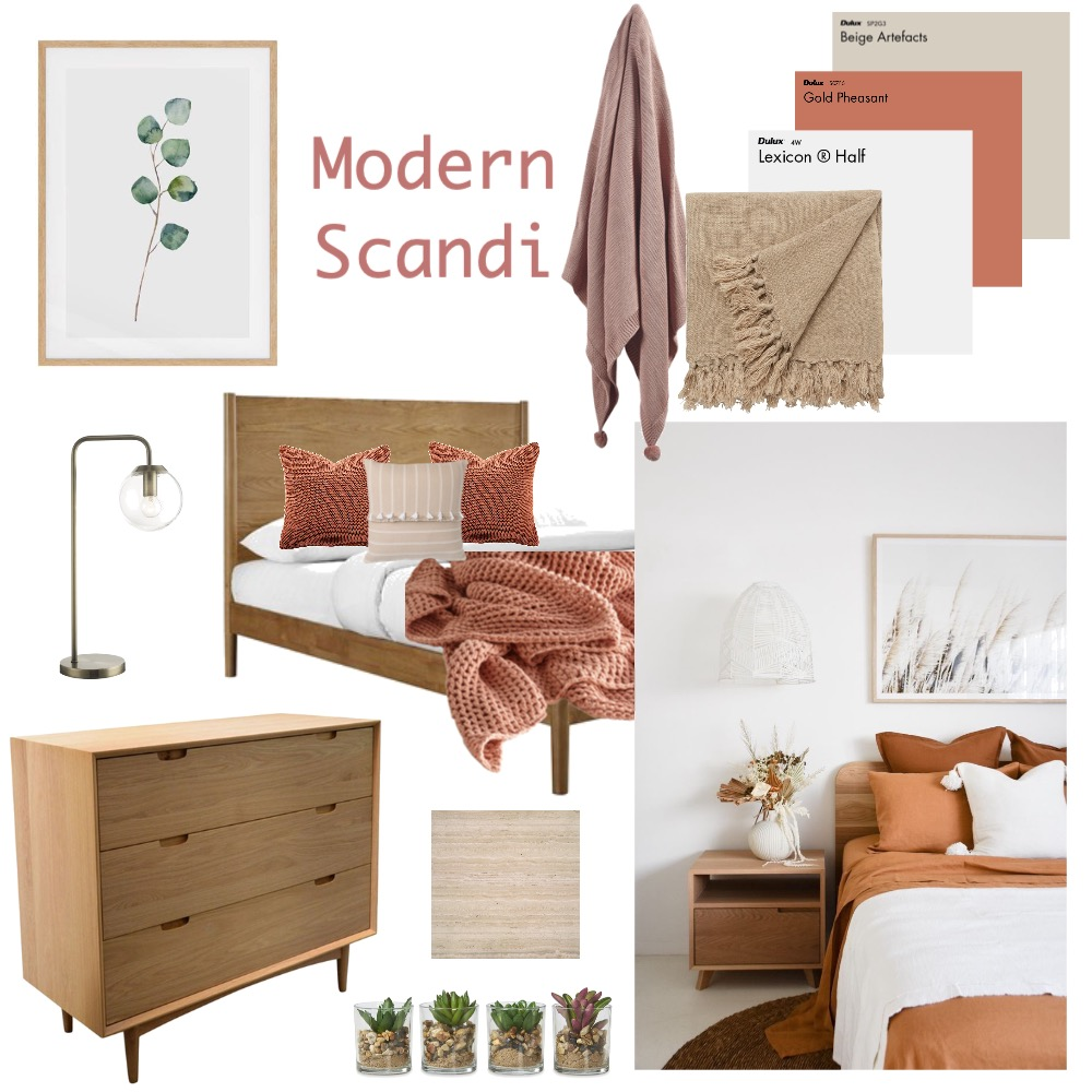 Scandi Bedroom Interior Design Mood Board by toutest_claire on Style Sourcebook