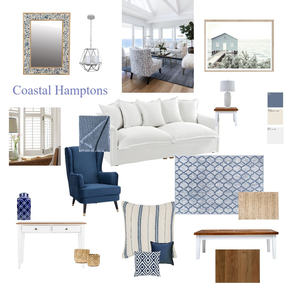 Coastal Hamptons Interior Design Mood Board by ShazDesign on Style Sourcebook
