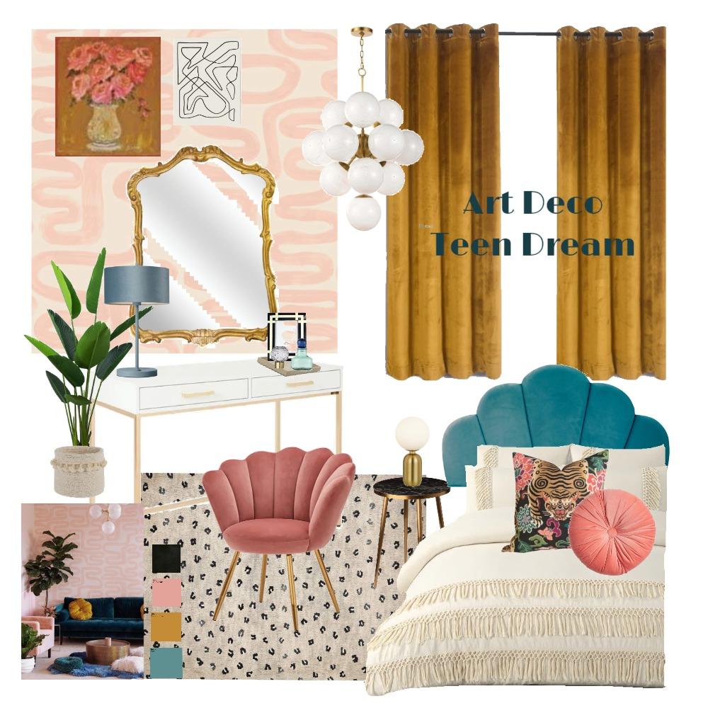 Art Deco Teen Dream Interior Design Mood Board by haileymarieh on Style Sourcebook