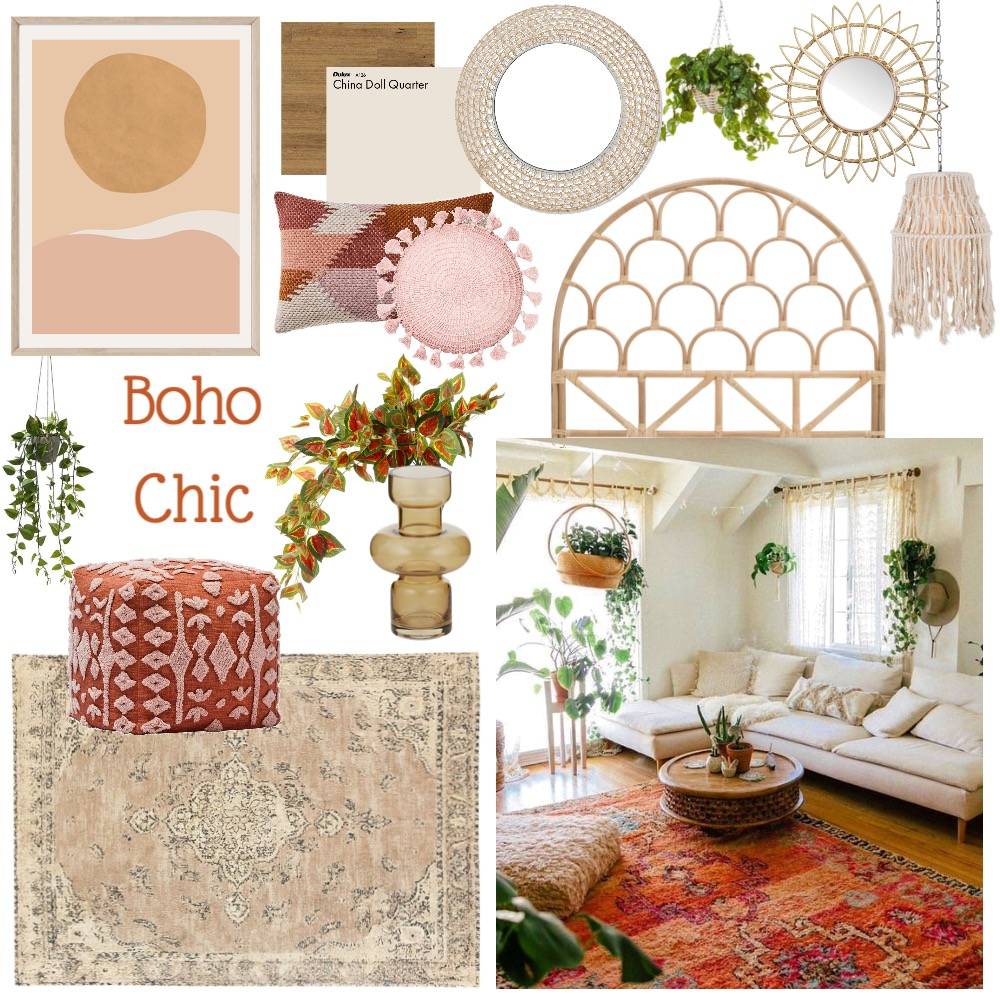 Boho Chic Interior Design Mood Board by toutest_claire on Style Sourcebook