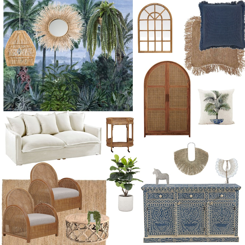 Blue Bungalow Interior Design Mood Board by MichelleDavies on Style Sourcebook