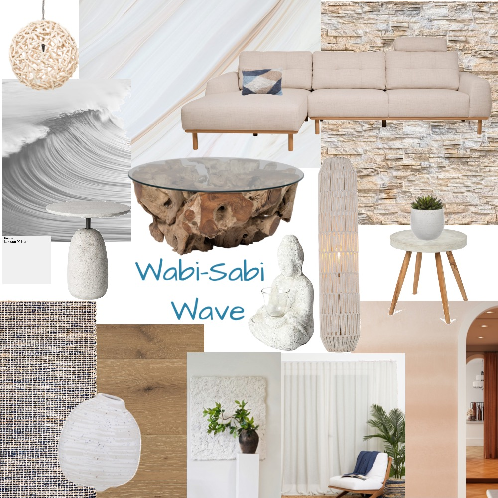 Wabi-Sabi Wave Interior Design Mood Board by lsmoore on Style Sourcebook