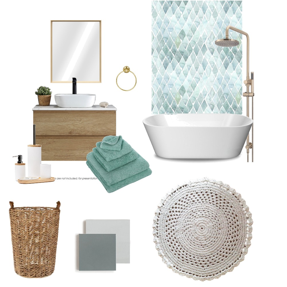 Beli tepih / kupatilo Interior Design Mood Board by My Witches on Style Sourcebook