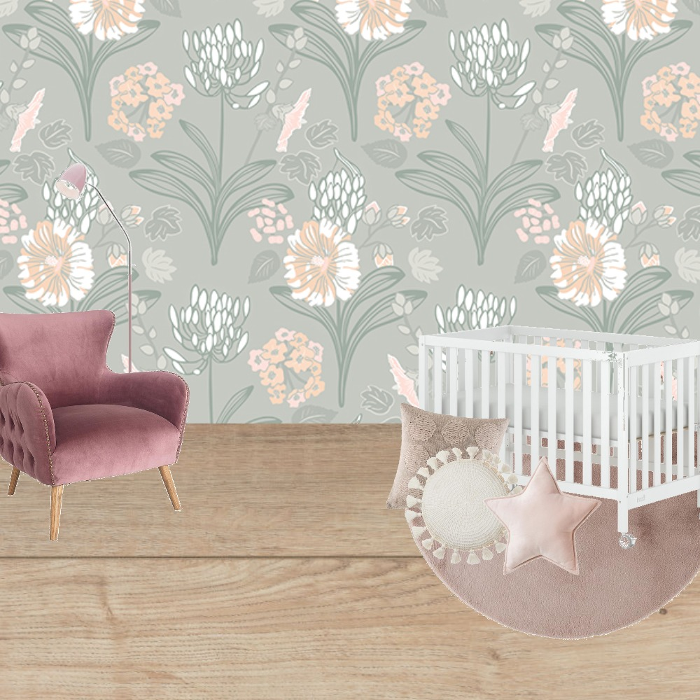 baby room girl Interior Design Mood Board by Lilly Devine on Style Sourcebook
