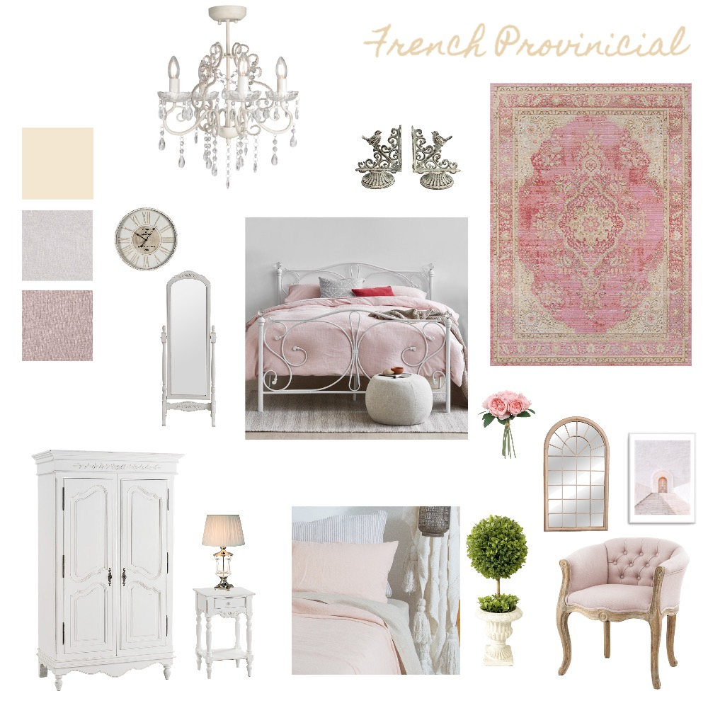 French Provincial Interior Design Mood Board by zainabr_ on Style Sourcebook