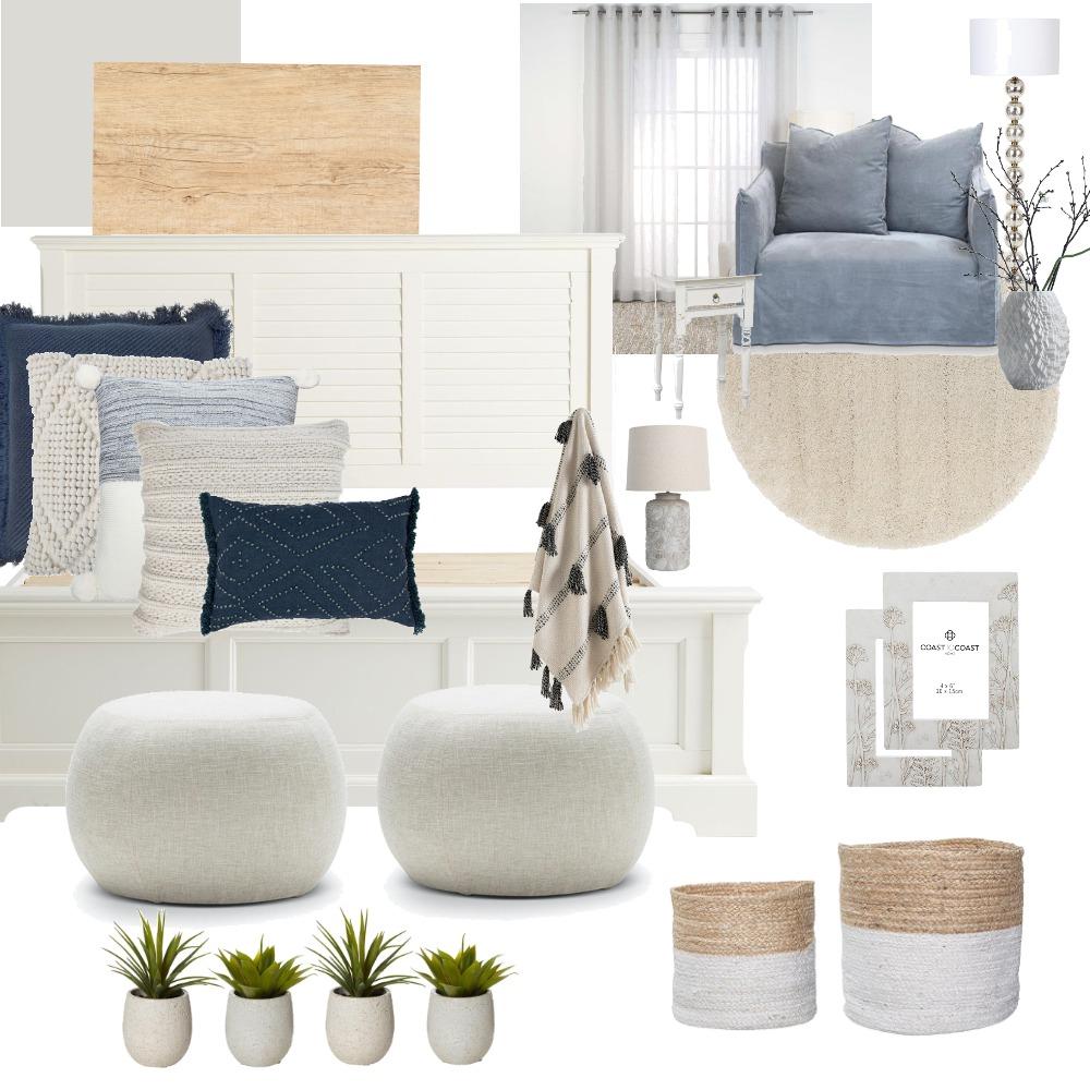 Barbara Bedroom - cool blue minimalist Interior Design Mood Board by Rhiannon on Style Sourcebook
