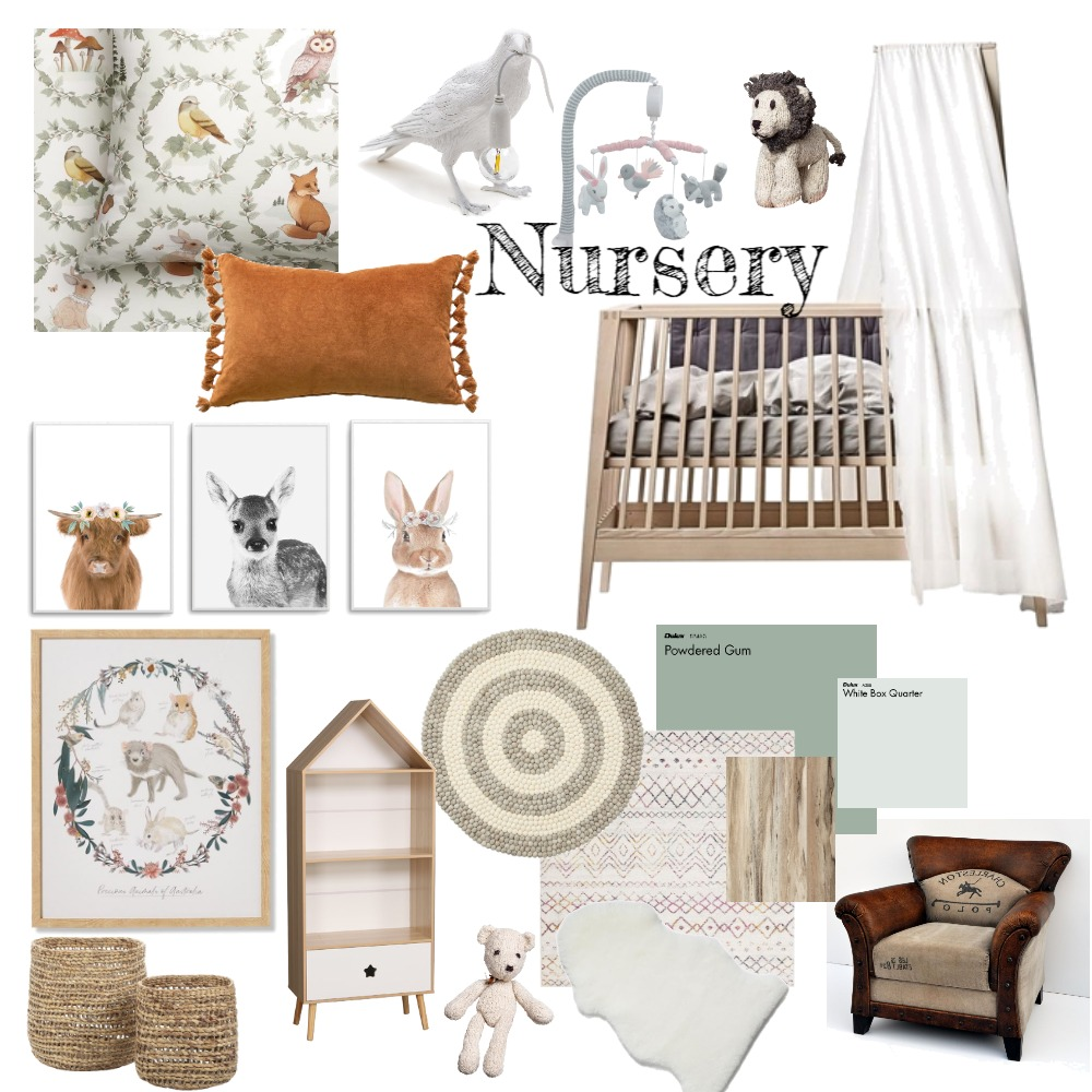 Nursery Interior Design Mood Board by SkyeLauren on Style Sourcebook