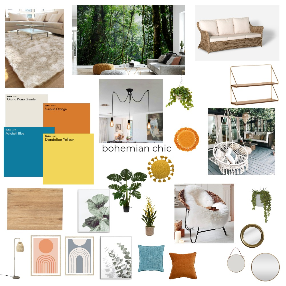 Bohemian Interior Design Mood Board by katielally93 on Style Sourcebook