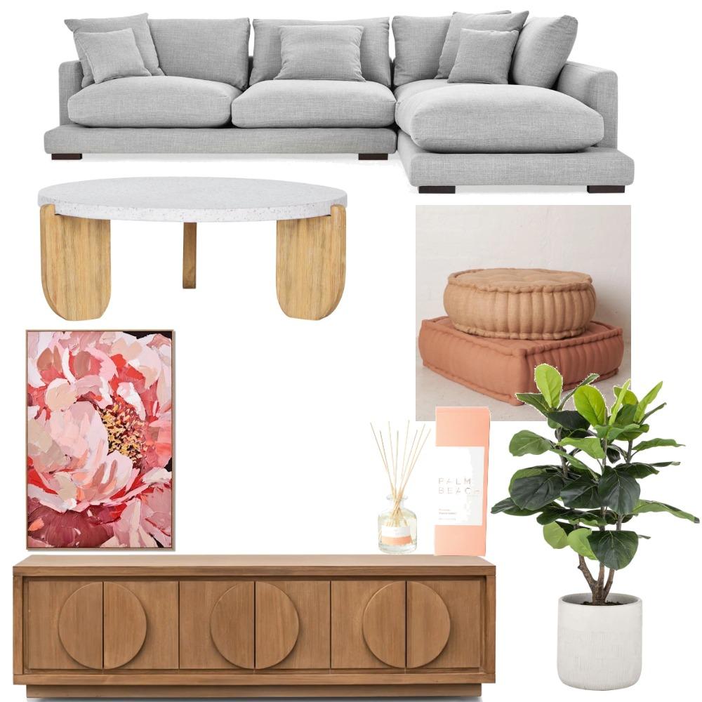 Peachy Lounge Interior Design Mood Board by KOKO & SAGE on Style Sourcebook