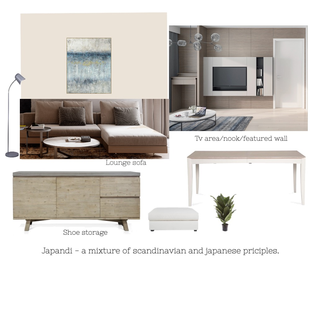 living/dining Japandi Interior Design Mood Board by Margo Midwinter on Style Sourcebook