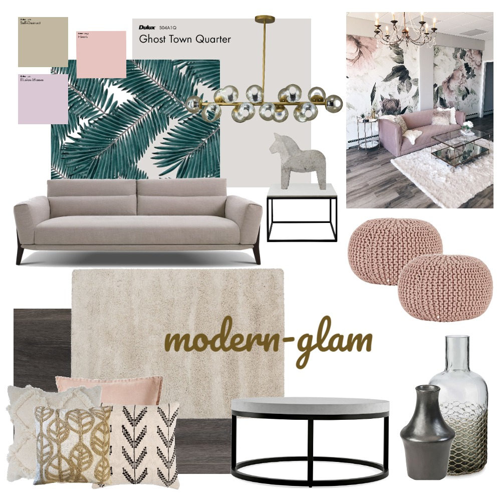 Modernglam Interior Design Mood Board by MeghaG on Style Sourcebook