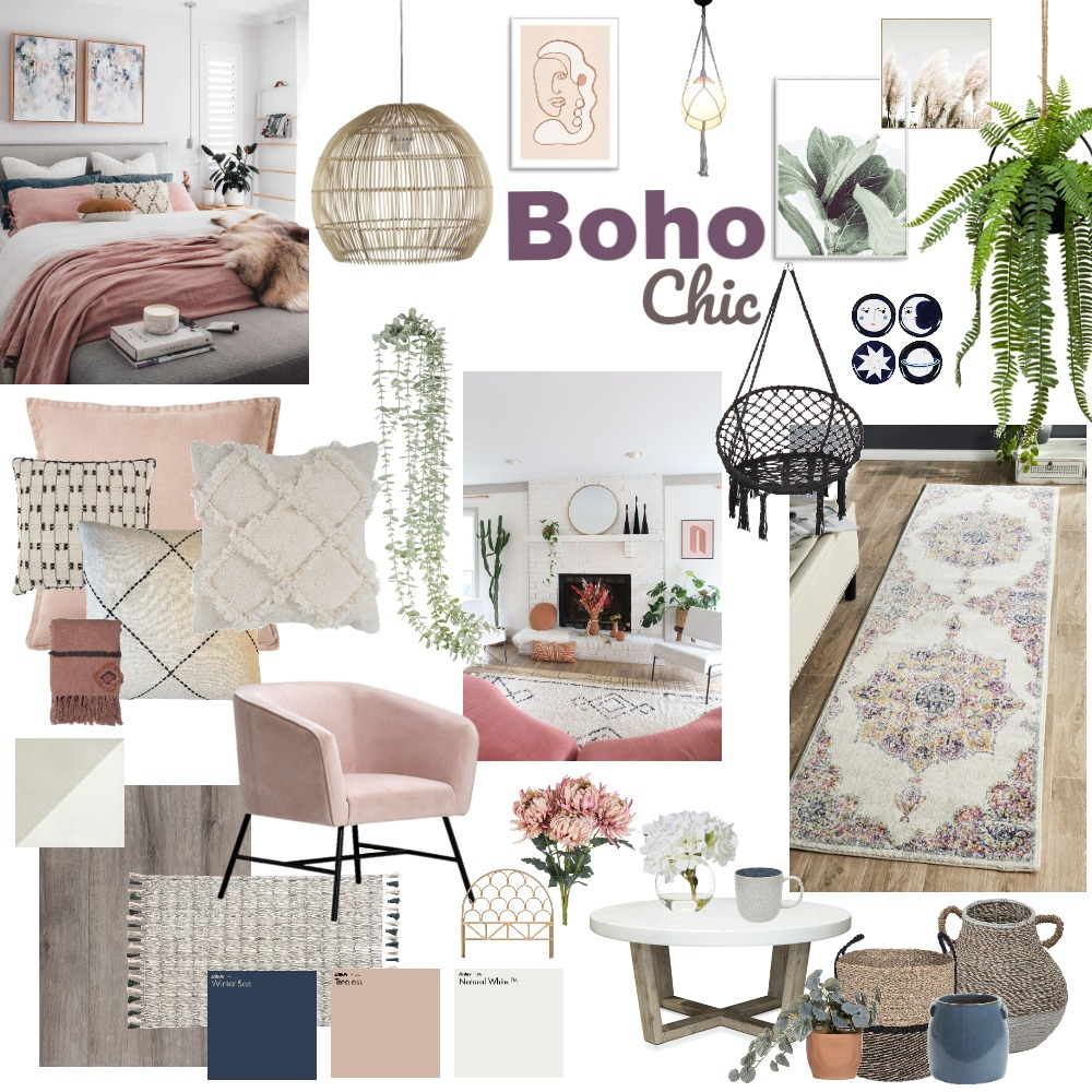 Boho Chic Mood Board Interior Design Mood Board by m.mulford on Style Sourcebook