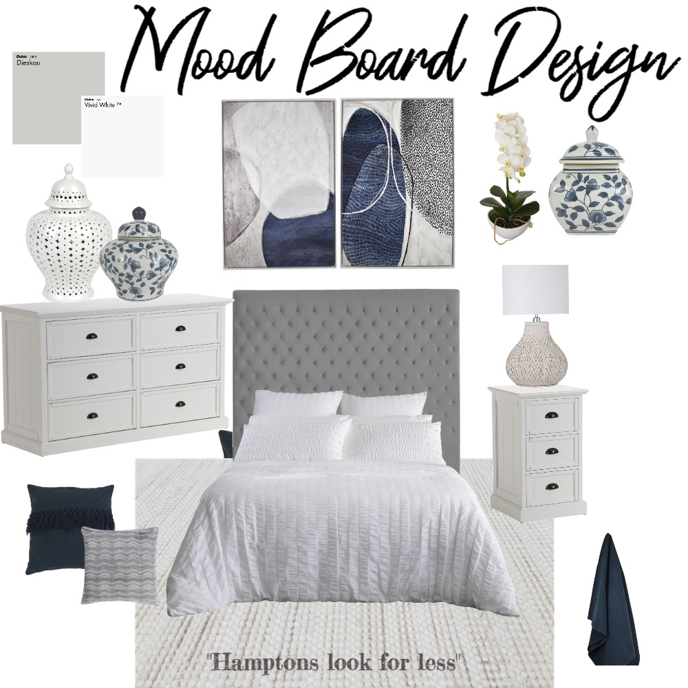 Hamptons Look For Less. Interior Design Mood Board by Amanda.lee.interiors on Style Sourcebook