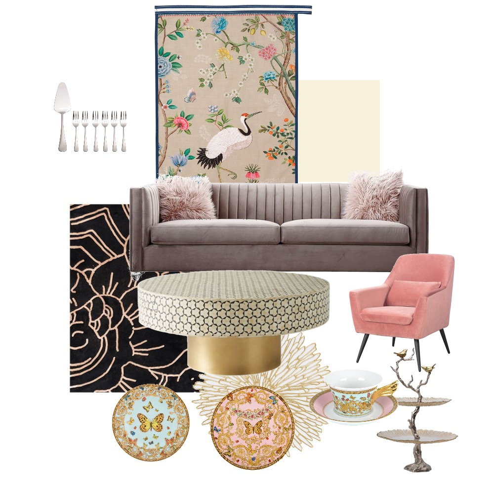 Luxe tea Interior Design Mood Board by Tropigal on Style Sourcebook