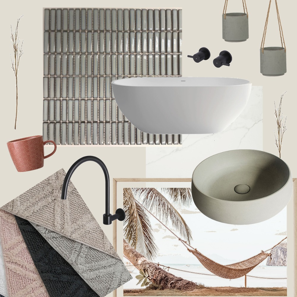 Green Bathroom Interior Design Mood Board by nikijc on Style Sourcebook