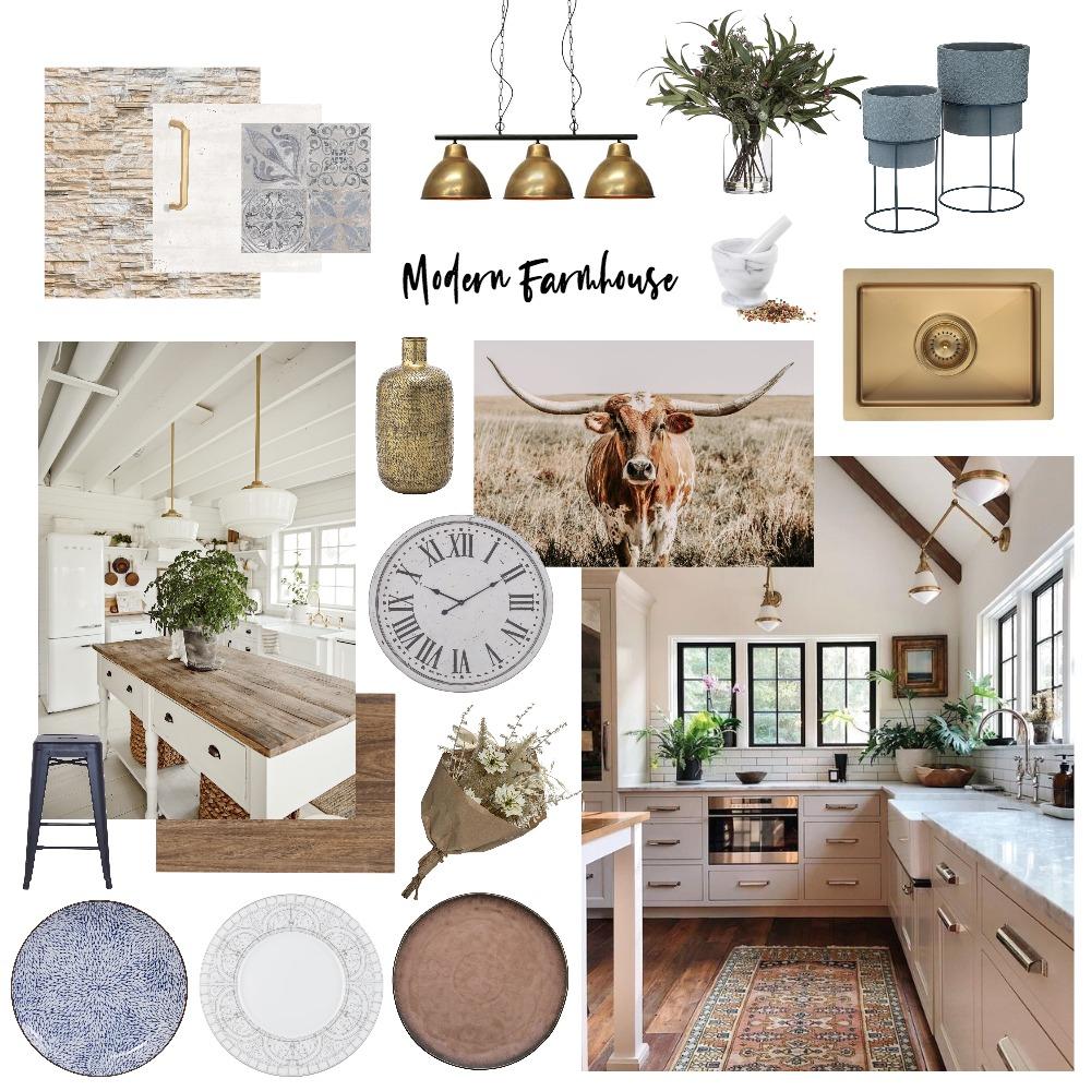 Modern Farmhouse Kitchen Interior Design Mood Board by Ciara Kelly on Style Sourcebook