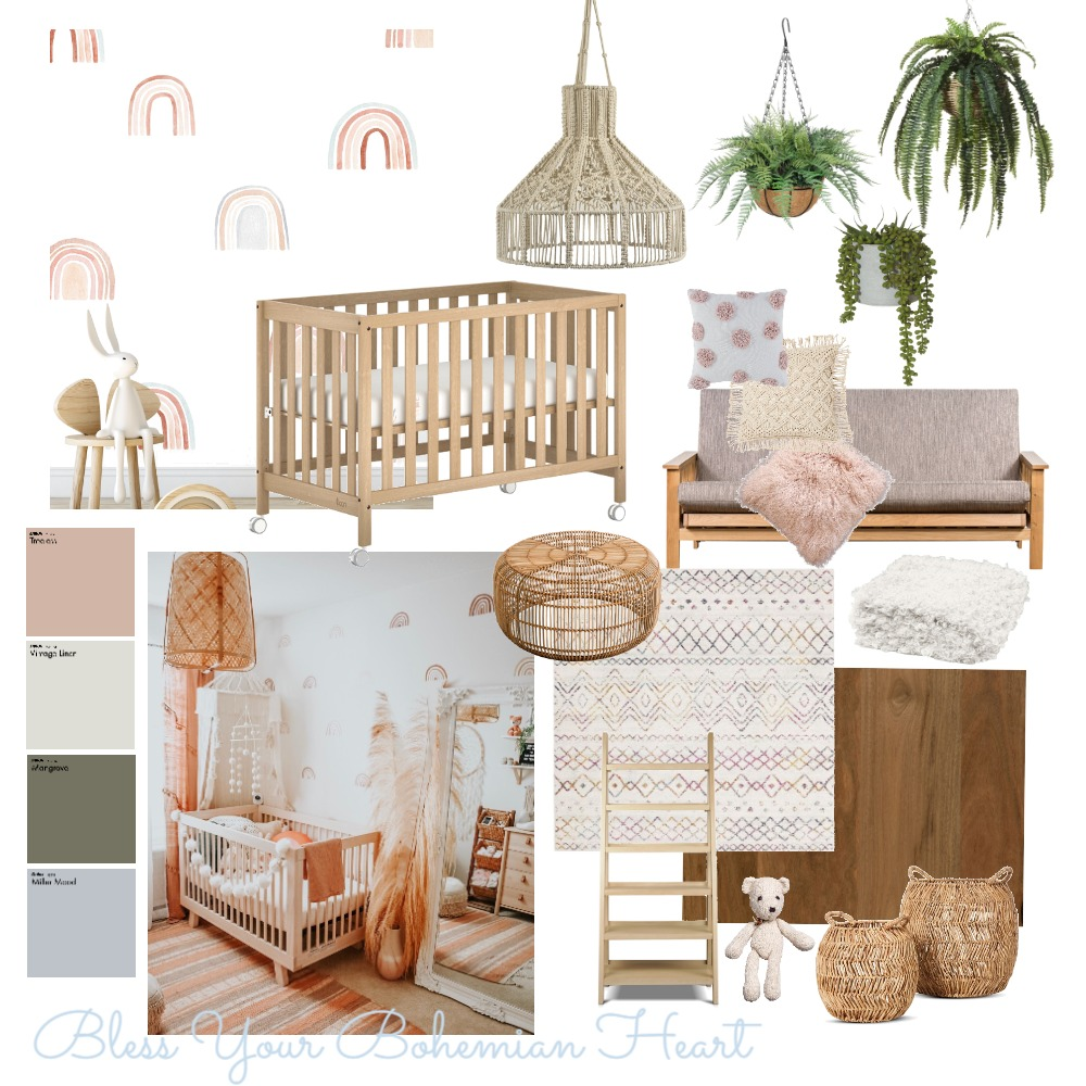 Bless Your Bohemian Heart Interior Design Mood Board by Erinebe on Style Sourcebook
