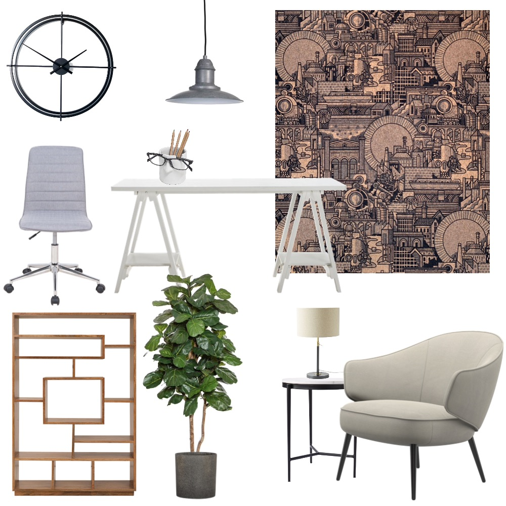 Home office Interior Design Mood Board by Cinnamon Space Designs on Style Sourcebook