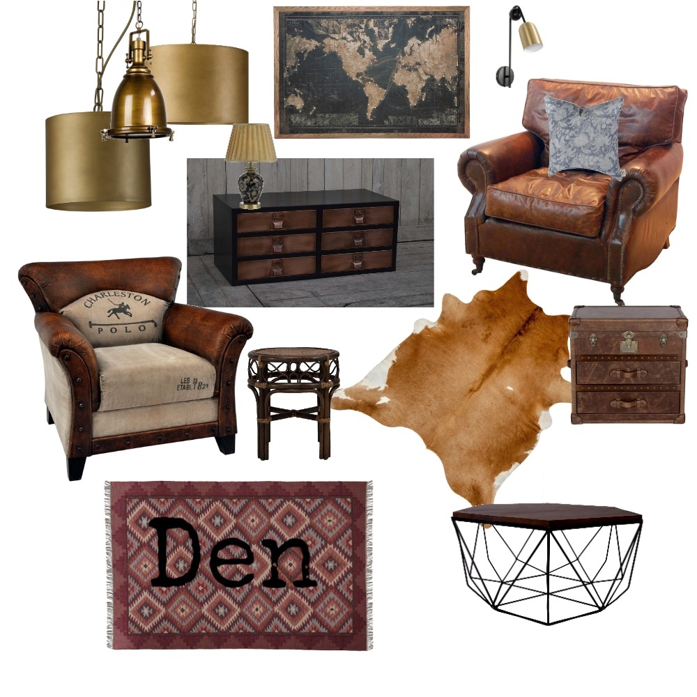Den Interior Design Mood Board by AlidanLouise on Style Sourcebook