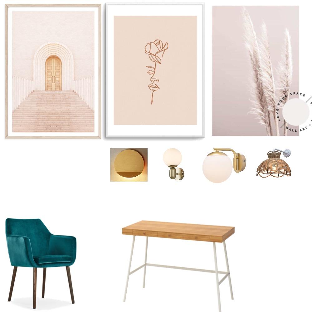 Willa's Bedroom - Study Interior Design Mood Board by claritaidoyaga on Style Sourcebook