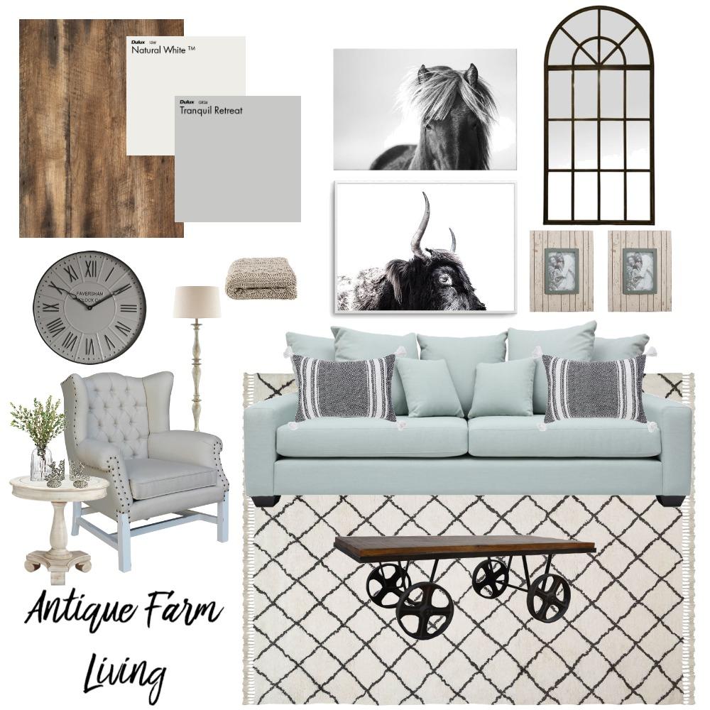 Antique Farm Living Interior Design Mood Board by CBMole on Style Sourcebook