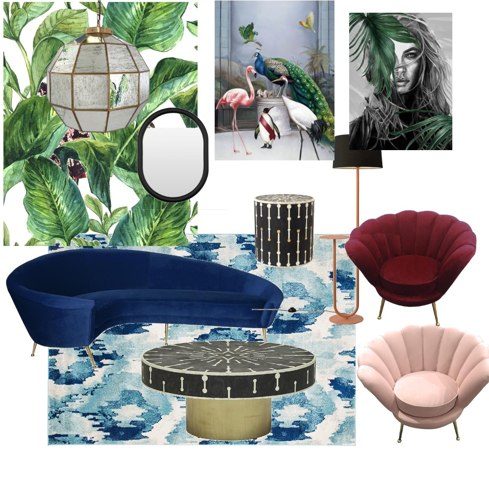 jungalow glam Interior Design Mood Board by AlidanLouise on Style Sourcebook