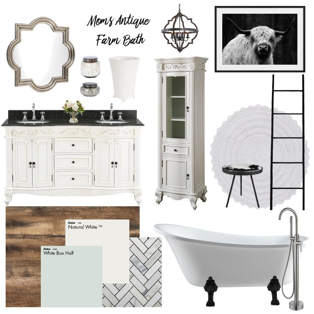 Moms Antique Farm Bath Interior Design Mood Board by CBMole on Style Sourcebook